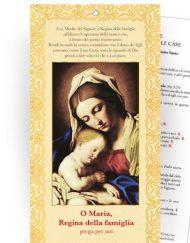 """Cartoncino Benedizione delle famiglie nelle case - """"Regina della famiglia"""""""