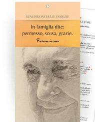 """Cartoncino Benedizione delle famiglie nelle case - """"Papa Francesco"""""""