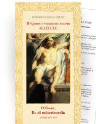 """Cartoncino Benedizione delle famiglie nelle case - """"Gesù Risorto"""""""