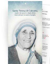 """Cartoncino Benedizione delle famiglie nelle case - """"Santa Teresa di Calcutta"""""""