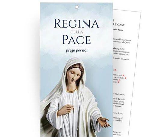 """Cartoncino Benedizione delle famiglie nelle case - """"Regina della Pace"""""""